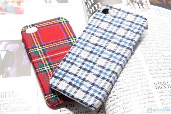 Ốp lưng nhựa bọc vải cho iphone 4/4S - 7