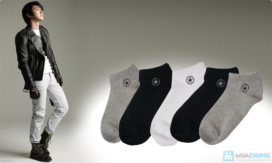 Combo 5 đôi tất nam thun cotton cao cấp - 6