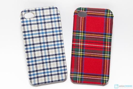 Ốp lưng nhựa bọc vải cho iphone 4/4S - 1