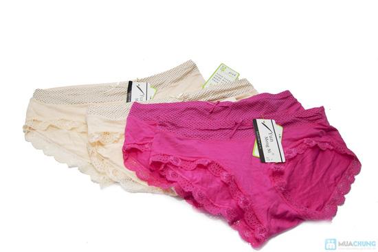 Combo 4 quần lót viền ren chấm bi - 7
