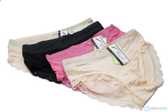 Combo 4 quần lót viền ren chấm bi - 2