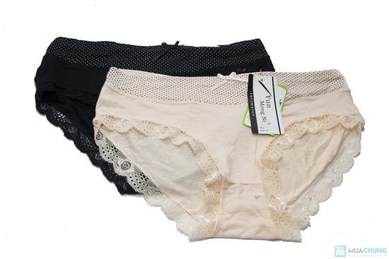 Combo 4 quần lót viền ren chấm bi - 6