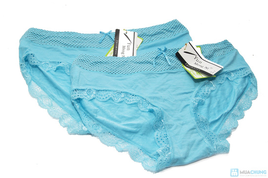 Combo 4 quần lót viền ren chấm bi - 4