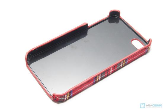 Ốp lưng nhựa bọc vải cho iphone 4/4S - 3