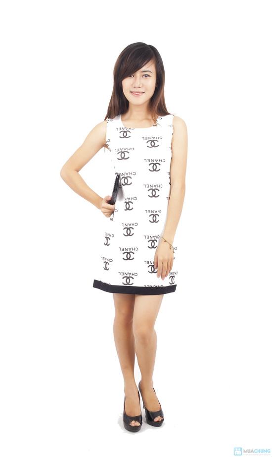 Đầm thun Chanel xinh xắn - 3