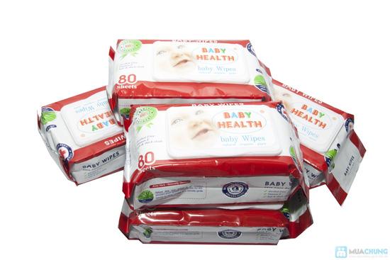 Combo 5 gói khăn ướt Baby Health (80 miếng/ gói) - 1