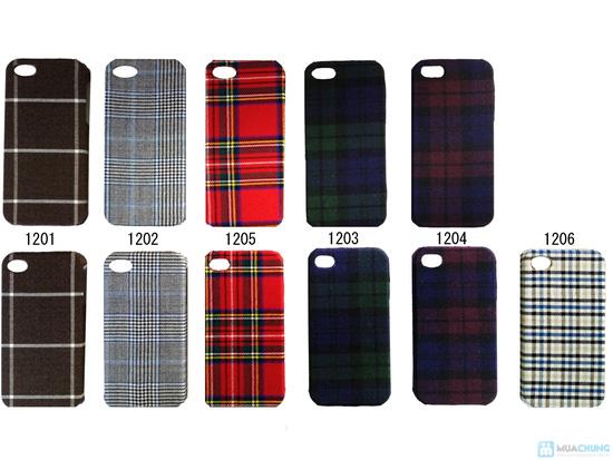 Ốp lưng nhựa bọc vải cho iphone 4/4S - 10