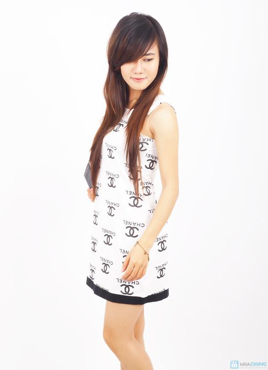 Đầm thun Chanel xinh xắn - 5