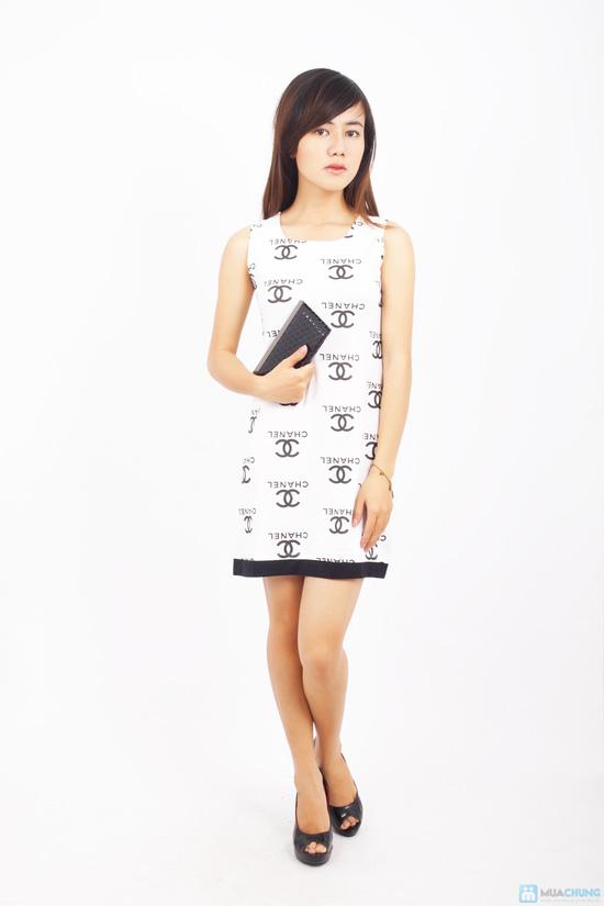 Đầm thun Chanel xinh xắn - 1