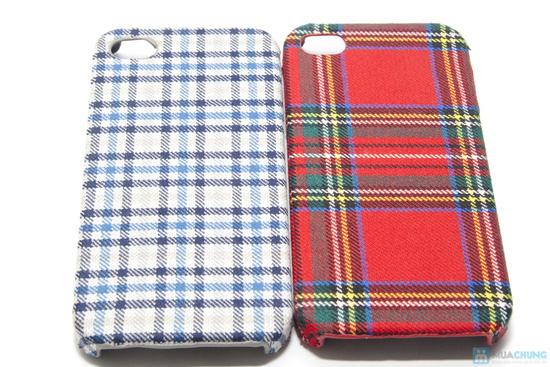Ốp lưng nhựa bọc vải cho iphone 4/4S - 4