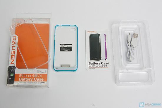 Ốp lưng sạc Iphone 4/4s dung lượng 1420mAh (tặng kèm 1 viền ốp lưng + cáp 3 in 1) - 1