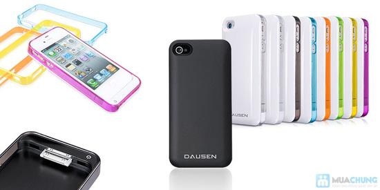 Ốp lưng sạc Iphone 4/4s dung lượng 1420mAh (tặng kèm 1 viền ốp lưng + cáp 3 in 1) - 6
