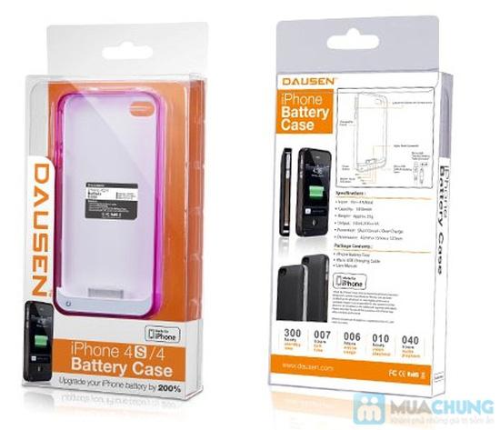 Ốp lưng sạc Iphone 4/4s dung lượng 1420mAh (tặng kèm 1 viền ốp lưng + cáp 3 in 1) - 8