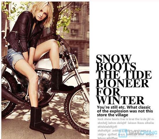 Boot cổ lông cho mùa đông ấm áp - 1