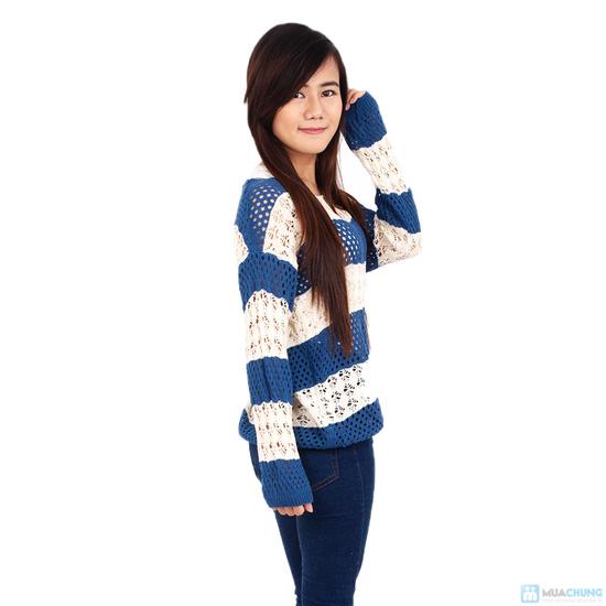 Áo len móc color dịu dàng - 2