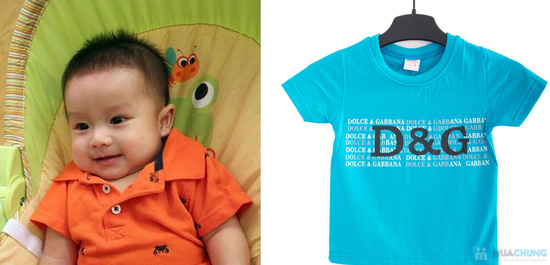 Combo 2 áo thun in chữ cho bé trai 1 - 2 tuổi - 5