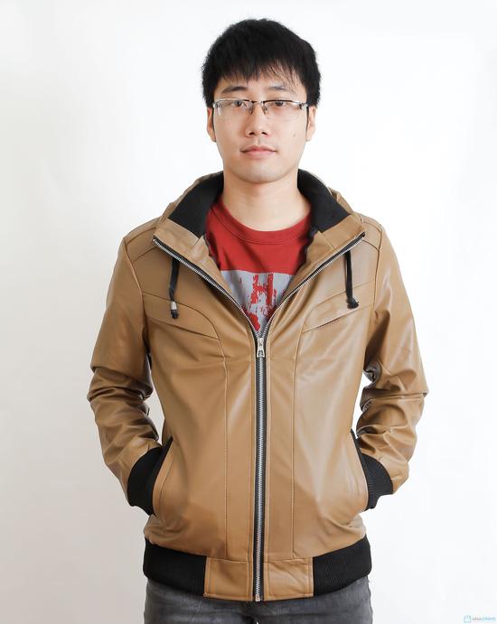 áo da 2 lớp cổ cao cho nam - 6