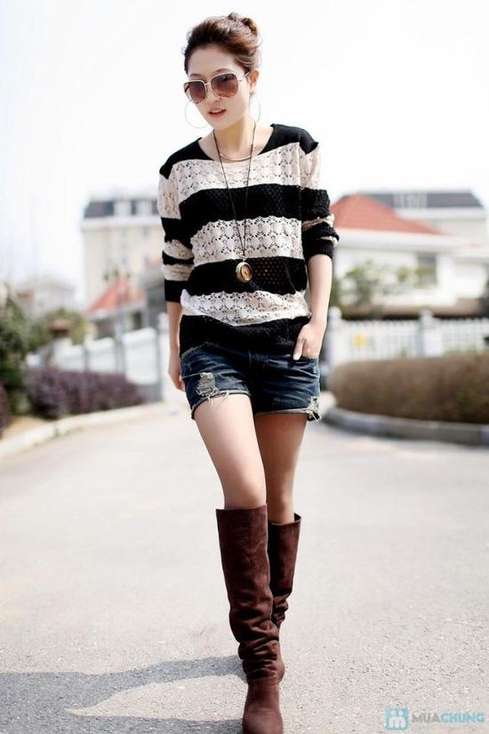 Áo len móc color dịu dàng - 5