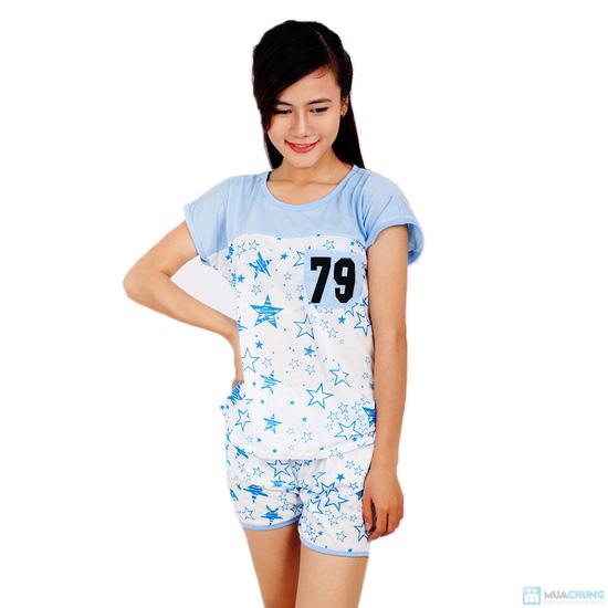 Combo 2 bộ đồ mặc nhà họa tiết sao - 8