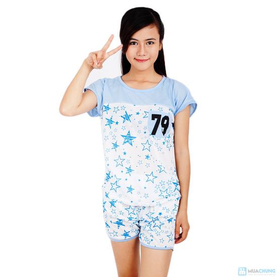 Combo 2 bộ đồ mặc nhà họa tiết sao - 7