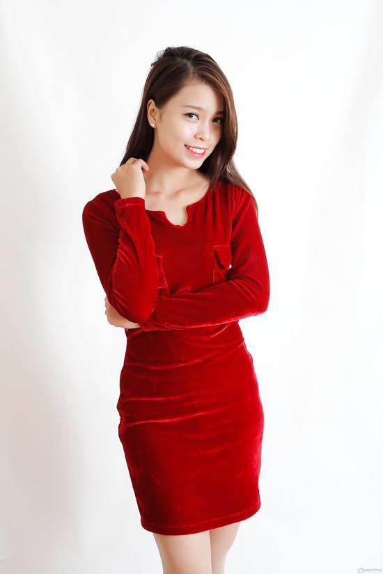 Váy nhung dáng ôm - 5