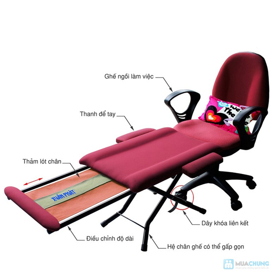 """Ghế ngủ văn phòng"""" mang nhãn hiệu Xuân Phát  - 4"""