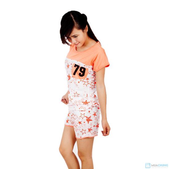 Combo 2 bộ đồ mặc nhà họa tiết sao - 6