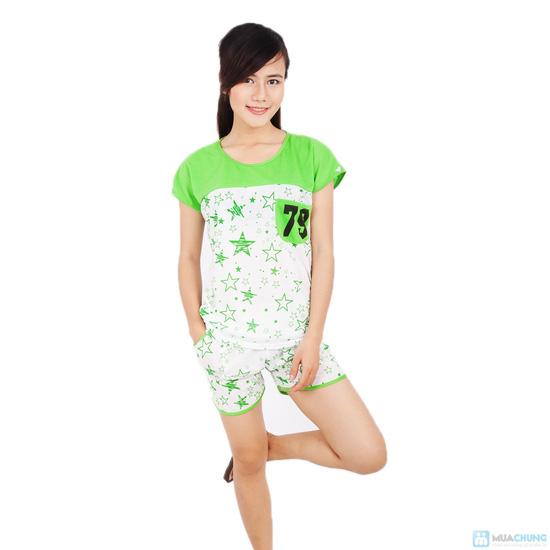 Combo 2 bộ đồ mặc nhà họa tiết sao - 2