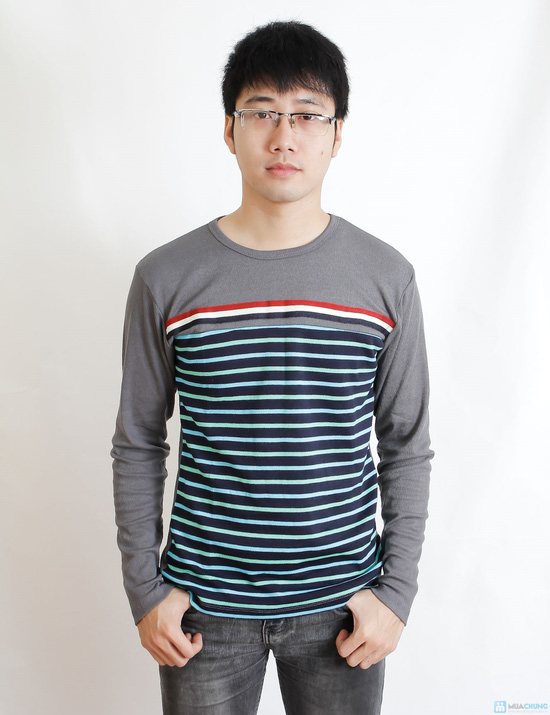 Combo 2 áo nỉ len kẻ cho nam - 1