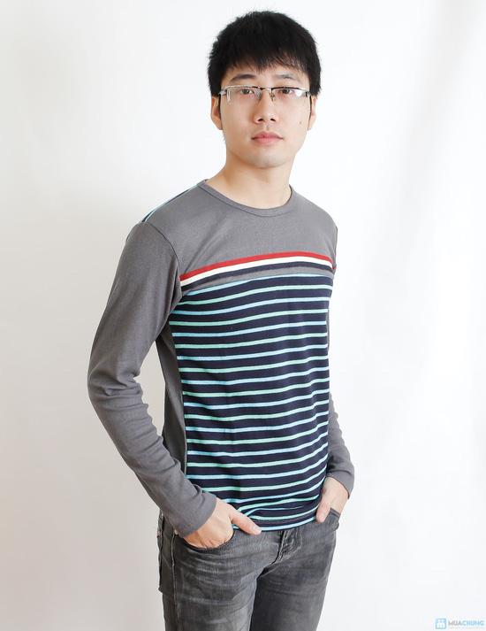 Combo 2 áo nỉ len kẻ cho nam - 2