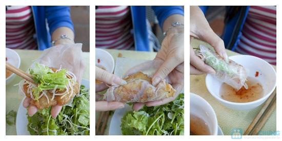 Combo bánh tôm Hồ Tây + Tôm cuốn chiên giòn + 2 phần nước trái cây - 5