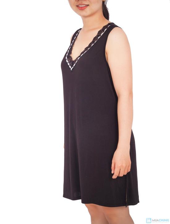 Đầm ngủ lụa dẻo trung niên - 4
