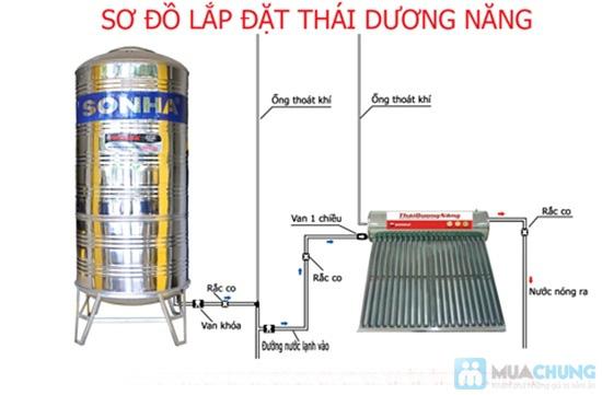 Máy nước nóng năng lượng mặt trời Sơn Hà 120 lít (Thái dương năng 15 ống) - 4