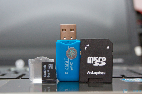 Thẻ nhớ 8GB + Đầu đọc thẻ + Adapter đọc thẻ - 11