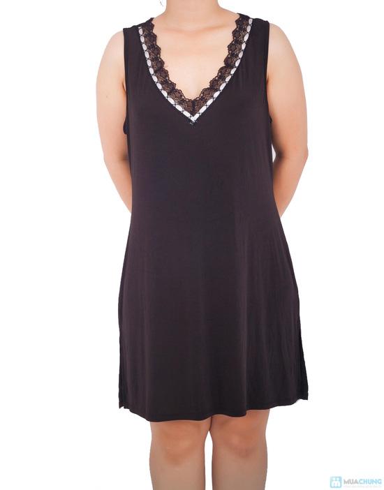 Đầm ngủ lụa dẻo trung niên - 5