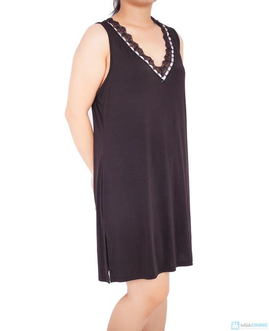 Đầm ngủ lụa dẻo trung niên - 3