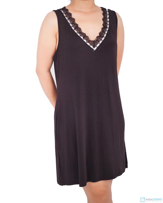 Đầm ngủ lụa dẻo trung niên - 6