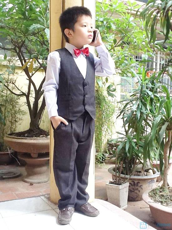 Bộ quần áo gi lê kèm cavat và áo trắng cho bé - 2