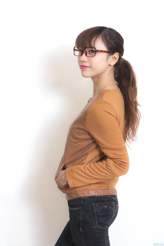 Áo khoác da thời trang cho nữ - 2