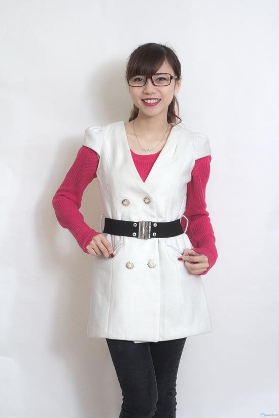 Váy dạ 2 lớp thắt đai - 1