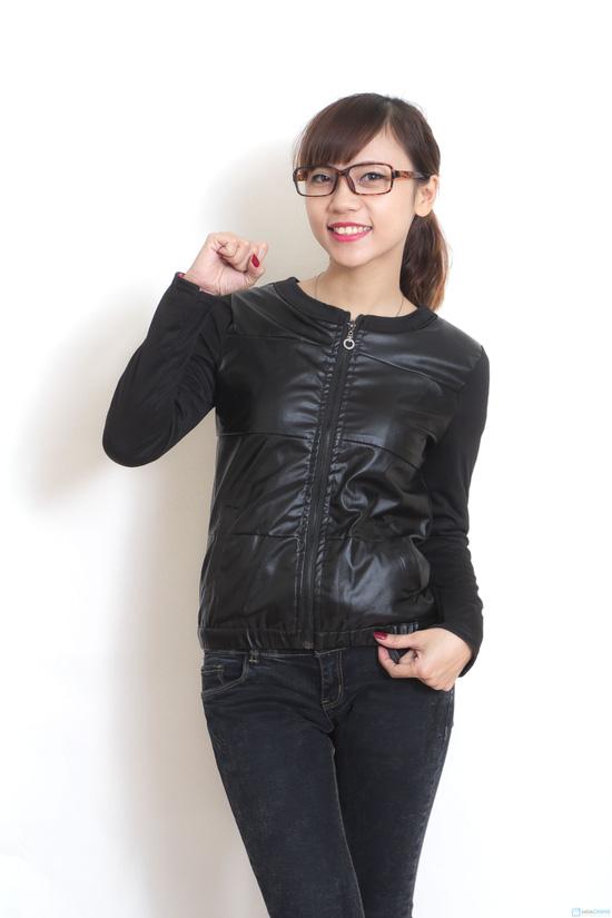 Áo khoác da thời trang cho nữ - 4