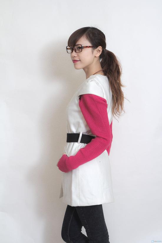 Váy dạ 2 lớp thắt đai - 2
