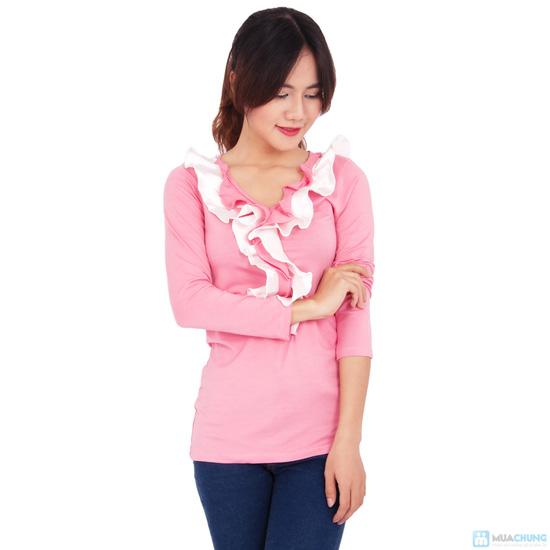 Áo thun nhúng bèo xinh xắn cho bạn gái - 6