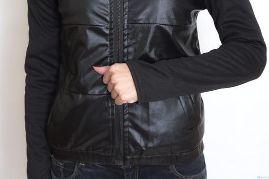 Áo khoác da thời trang cho nữ - 6