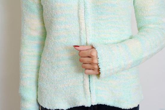 Áo khoác len sợi bông dài tay - 2