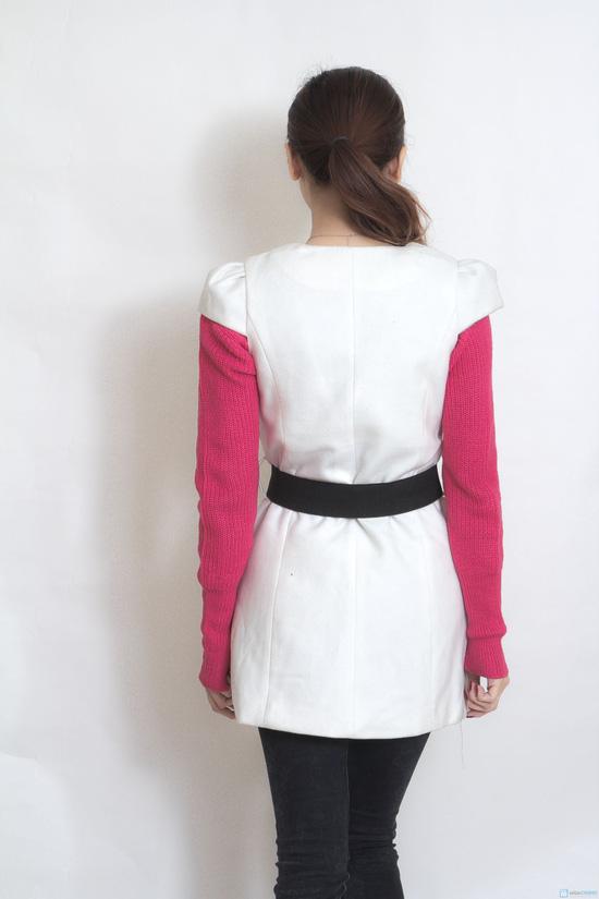 Váy dạ 2 lớp thắt đai - 3