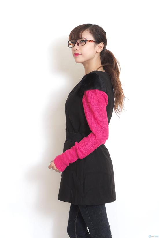 Váy dạ 2 lớp thắt đai - 5