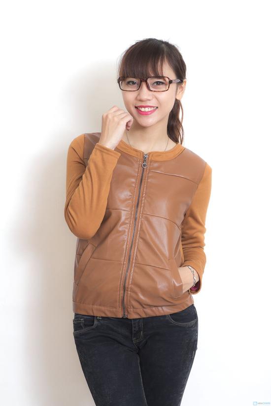 Áo khoác da thời trang cho nữ - 1