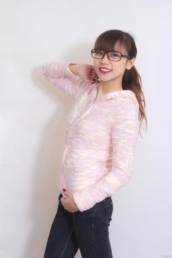 Áo khoác len sợi bông dài tay - 5
