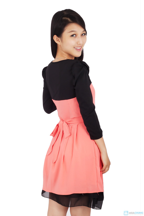 Đầm voan cột nơ - 6